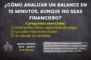 Lee más sobre el artículo 🚨 Curso Láser: ¿Cómo analizar un balance en 10 minutos aunque no seas financiero [Vídeo] 🚨