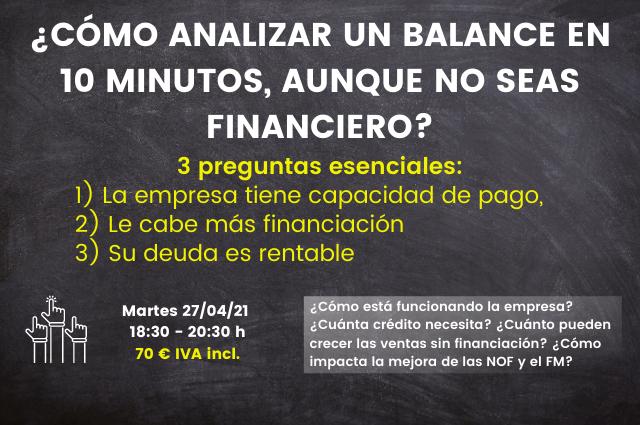 🚨 Curso Láser: ¿Cómo analizar un balance en 10 minutos aunque no seas financiero [Vídeo] 🚨